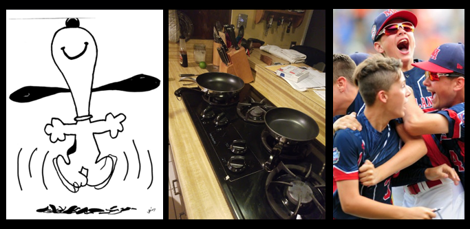 THE CHEF SEZ:  Happy things… Mac's new pots & pans & the average kid stops playing sports at 11 years of age