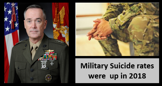 NEWS & COMMENTARY:  General Dunford departs as the Chairman of the Joint Chiefs of Staff — Suicide rates in the military continues to rise