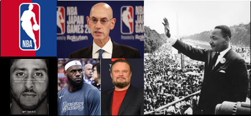 NEWS COMMENTARY:  a cowardly NBA. How do you celebrate MLK and social justice & turn your back on Hong Kong?  $$$$$$$$$