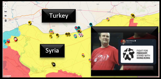 NEWS & COMMENTARY:  Turkey begins ops vs the Kurds — China takes on the NBA — a miracle strike on a moving car
