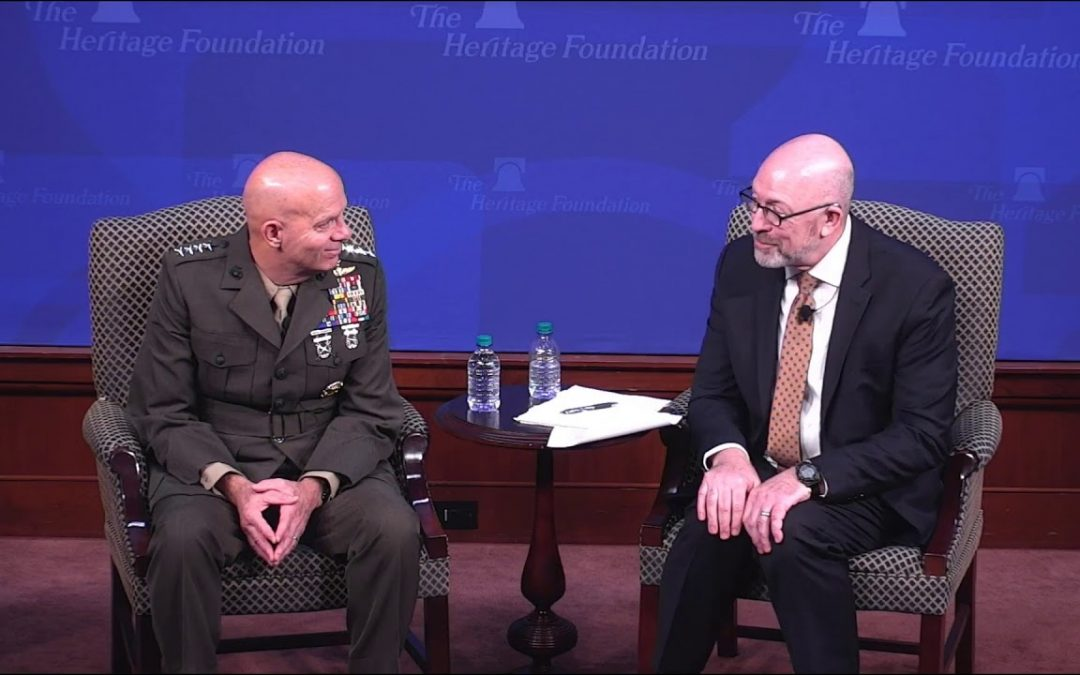 The Commandant sat down with the Heritage Foundation for almost 75 minutes to explain his vision — you should listen to him