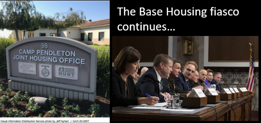 NEWS & COMMENTARY:  the Base Housing fiasco continues — the GAO says the data the DOD supplied to Congress is GARBAGE!