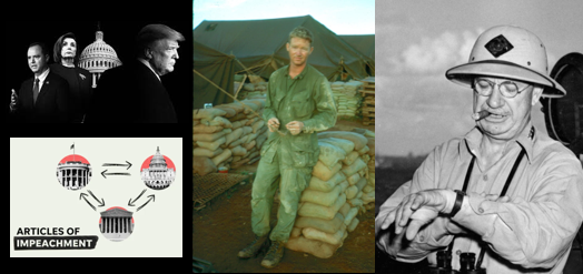 """Impeachment vote in the House today & Vietnam vet Jack Riley's inspirational interview on """"Living after Vietnam"""" & Gen H.M. Smith's voice!"""