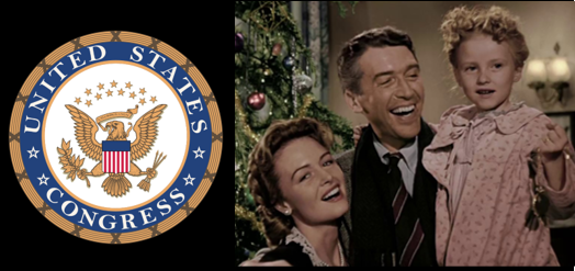 "NEWS & COMMENTARY: can Congress's 25% approval rating go lower?  –&–  The 4k version of ""It's a Wonderful Life"" is WONDERFUL!"