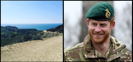 NEWS & COMMENTARY:  hiking in beautiful Orange County CA & was Prince Harry really auditioning for Disney?  Ugh
