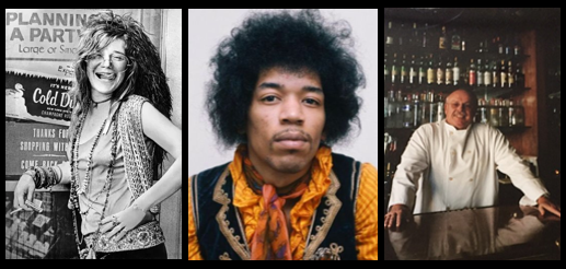 THE CHEF SEZ:  partying with Jimi Hendrix in San Francisco, Janis Joplin in Lake Tahoe… and growing up in Fifties & Sixties was FUN!