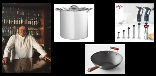 THE CHEF SEZ:  we talk kitchen tools — Stock Pots, Flat-Bottom Woks & Immersion Blenders!
