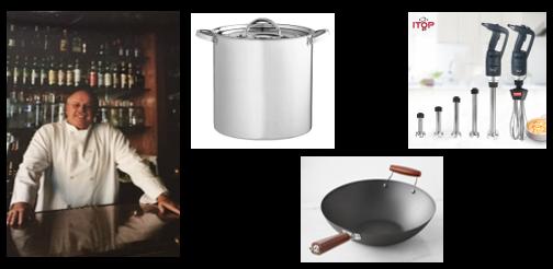 THE CHEF SEZ:  we talk kitchen tools — Stock Pots, Flat-Bottom Woks & Immersion Blenders!
