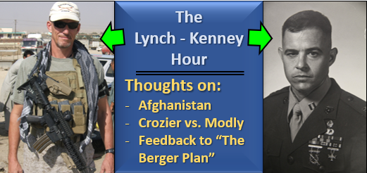 "LYNCH & KENNEY:  From ""Cautiously Pessimistic"" to ""Pessimistic"" on Afghanistan — The Crozier-Modly Affair — Feedback on ""The Berger Plan"""