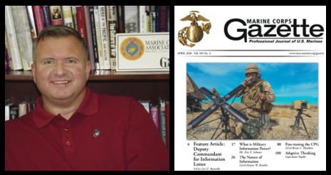 MARINE CORPS GAZETTE HOUR:  Chris Woodbridge talks this month's theme — Information Ops