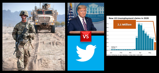 "NEWS & COMMENTARY:  ""All out"" of Afghanistan by Nov?  +  Twitter vs Trump  +  Unemployment growth slows but the total hits 40 million"