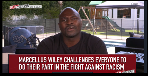 "NEWS & COMMENTARY:  Fox Sports Marcellus Wiley is our ""Leader of the Day"" — speaks the truth & challenges EVERYBODY to be better"