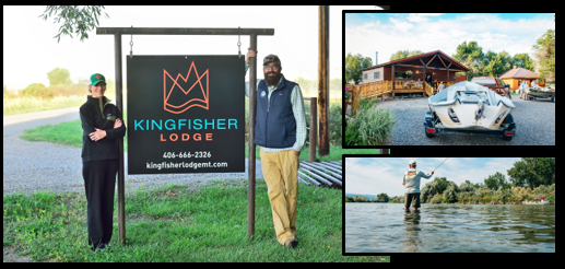 MONTANA FOLKS MAKE THE BAR-X PROJECT SPECIAL:  meet Brock & Jenny Boedecker of the Kingfisher Lodge in Fort Smith, Montana