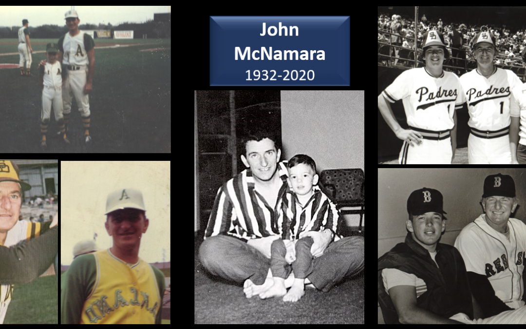 My Father, John McNamara, passed away on Wednesday — here is a humorous interview we did during the MLB Playoffs of 2006