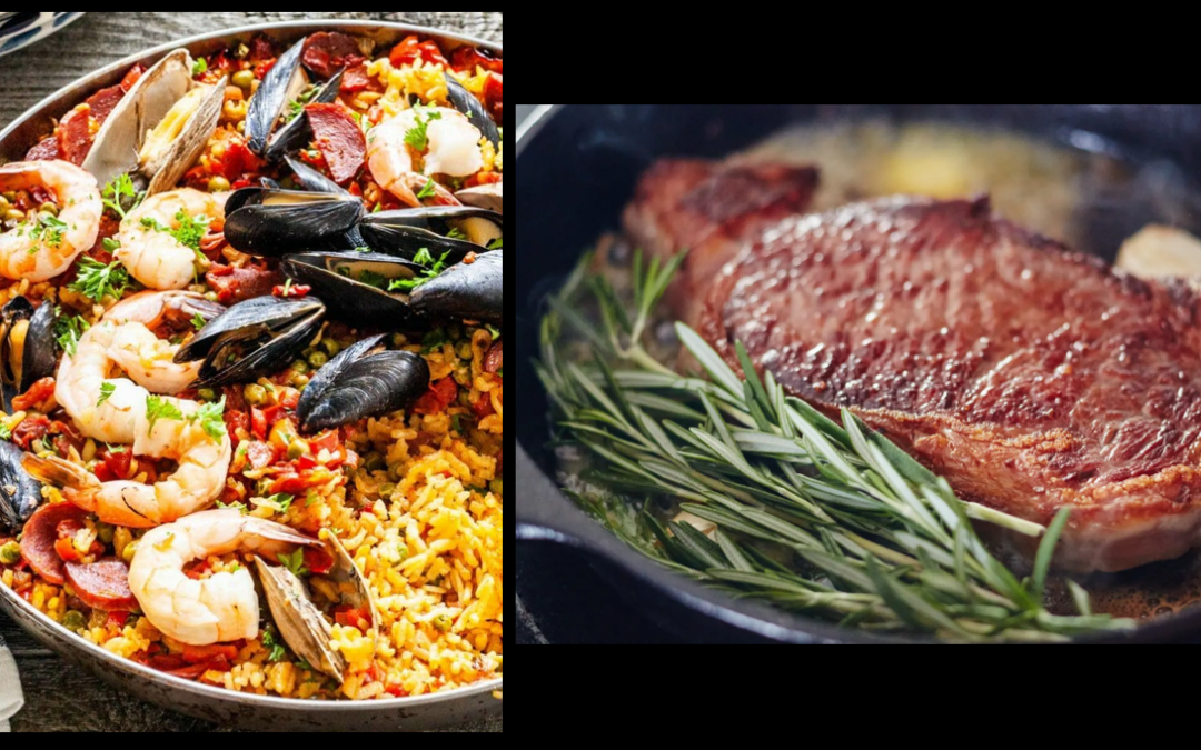 THE ASSISTANT CHEF SEZ:  Susie talks poor-man's paella + cast iron steak grilling + homemade bread + NODAK Orange Julius (with rum!)