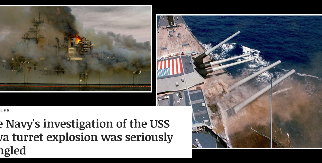 NEWS & COMMENTARY: more details about arson on the USS Bonhomme Richard + History, NCIS, the USS Iowa explosion = slow ur roll