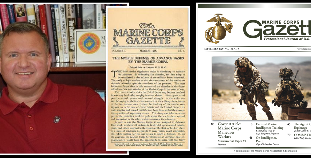 MARINE CORPS GAZETTE HOUR:  Editor, Col Chris Woodbridge, USMC (ret) joins us to talk current events & this month's MCG