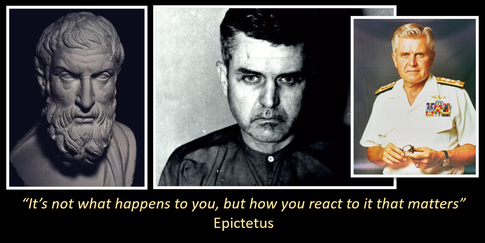 "NEWS & COMMENATRY:  the correct pronunciation of ""EPICTETUS"" and why was Admiral James Stockdale so taken by the Stoic philosophers?"