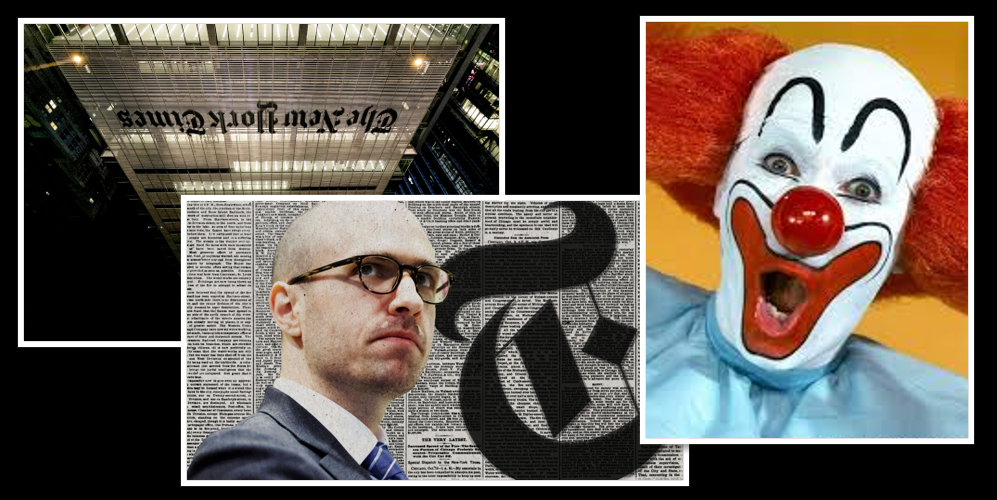 "NEWS & COMMENTARY: the descent of the NY Times has been amazing… to call A.G. Sulzberger a ""clown"" would be an insult to every clown on the planet"