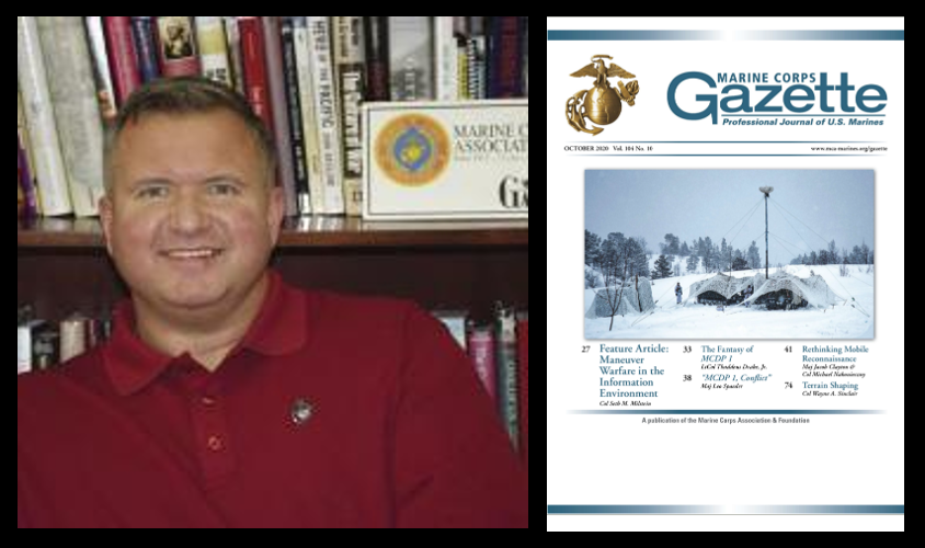 CHRIS WOODBRIDGE:  truth vs social media and the warped state of American journalism + the October issue of the Marine Corps Gazette