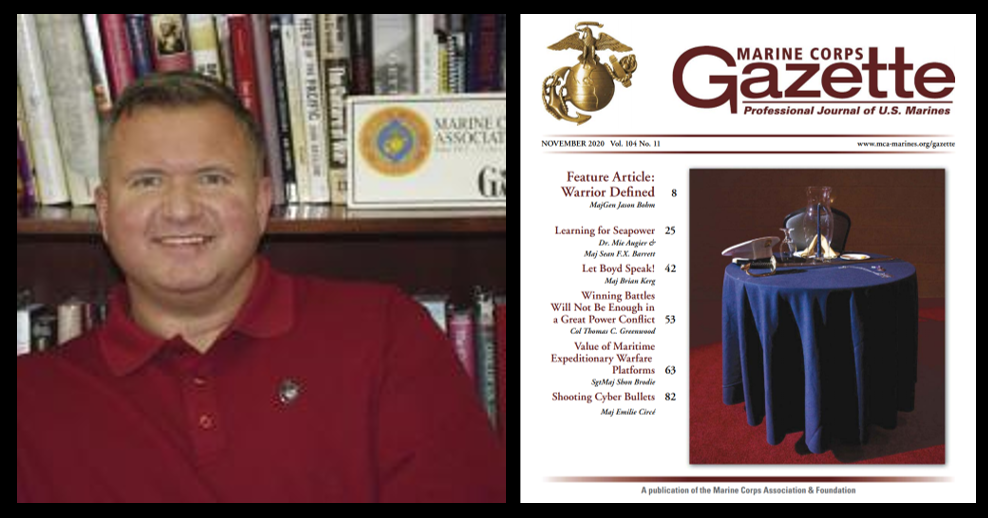 "MARINE CORPS GAZETTE HOUR:  Chris Woodbridge talks the Historical Division's ""Investigating Iwo"" + election media thoughts + the November edition"