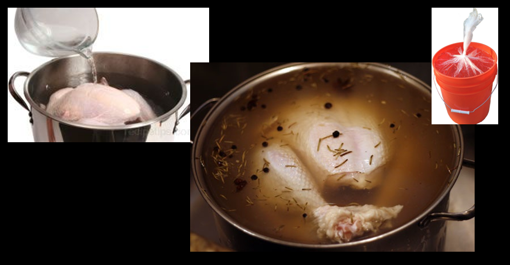 COOKING A GREAT THANKSGIVING MEAL — ADVICE FROM THE ALL MARINE RADIO CHEF:  brine your bird!