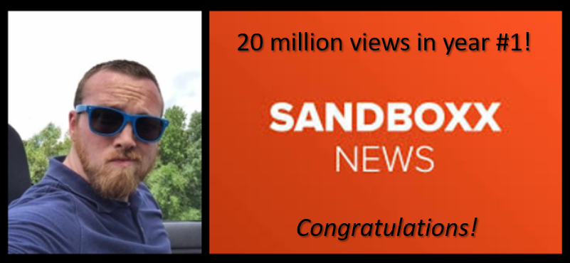 ALEX HOLLINGS: Christmas + Mental Health-Talk + SANDBOXX NEWS surpasses twenty-million views in its first year of business – WOW & CONGRATS!