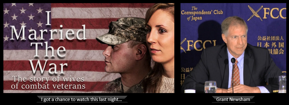 """Notes to myself after watching """"I Married the War"""" + Grant Newsham talks the Biden Administration's first step in the Western Pacific"""