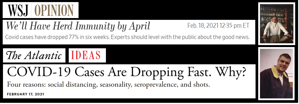"WSJ: ""We'll Have Herd Immunity by April"" + THE ATLANTIC: ""Covid Cases Are Dropping Fast. Why?"" + Greg & Kim:  Can We All Just Get Along?  Uhhhh… no"