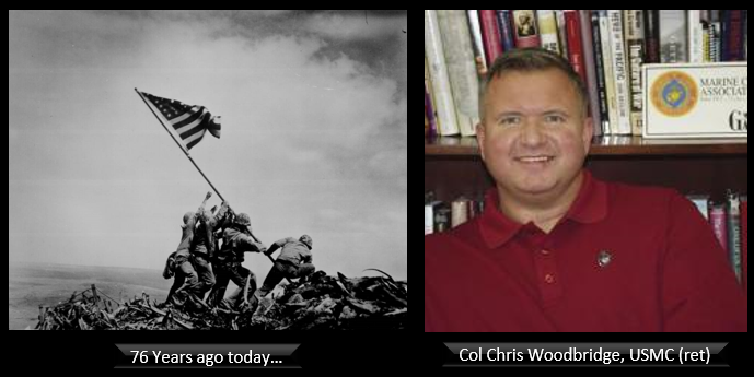 "Chris Woodbridge talks: the fight on Iwo Jima + the Marine Corps ""Staff Non-Commissioned Officer problem"" + This month's Marine Corps Gazette"
