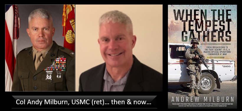 "THE ALL MARINE RADIO HOUR:  suicide & education levels + ""When the Tempest Gathers"" author Andy Milburn talks Afghanistan & ""senior mentoring"""