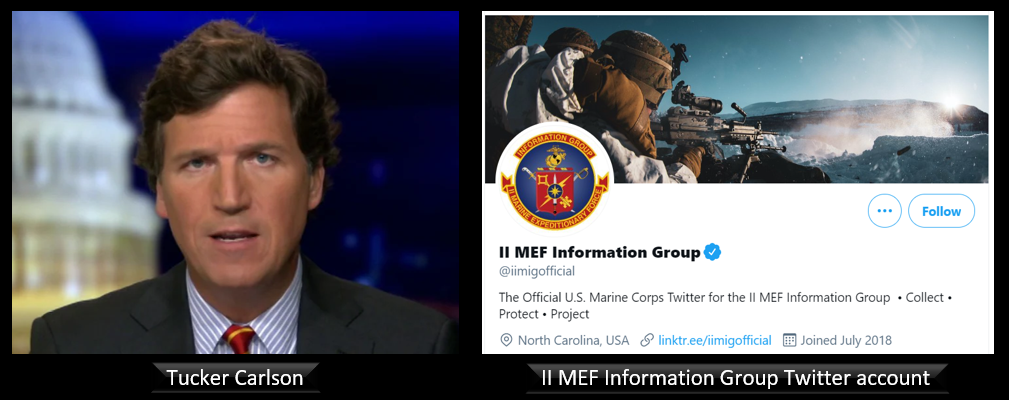 THE ALL MARINE RADIO HOUR:  we painstakingly walk through Tucker Carlson's March 11th show and each Tweet from the II MEF IG account — WHAT IS GOING ON? — with Will Costantini