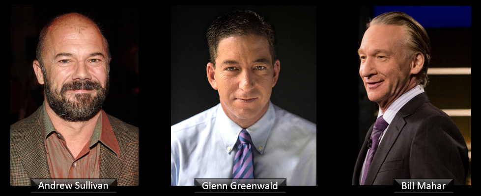 THE ALL MARINE RADIO HOUR:  I'm heartened to see the work of Glenn Greenwald, Andrew Sullivan & even Bill Mahar (yep!)… as they push back garbage journalism and the absolute intolerance of cancel culture