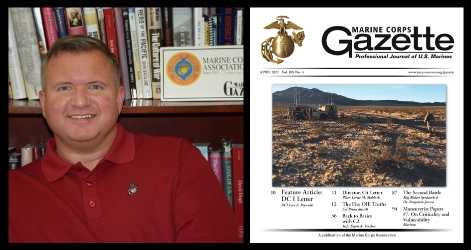 THE ALL MARINE RADIO HOUR:  Chris Woodbridge taks this month's Marine Corps Gazette + Twitter's impact on organizational leadership (and lots more)