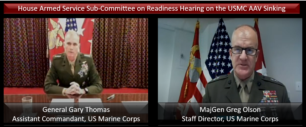 THE ALL MARINE RADIO HOUR: USMC Generals testify before the HASC Sub-Committee on Readiness — General Gary Thomas, Asst Commandant & MajGen Olson, Staff Director — you should listen