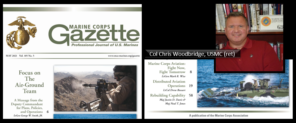 THE ALL MARINE RADIO HOUR:  Chris Woodbridge talks the May issue of the Marine Corps Gazette & separate courts for sexual assaults