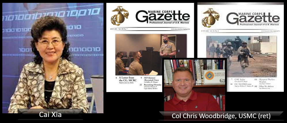 ALL MARINE RADIO HOUR:  former CCP insider turned China regime critic Cai Xia calls the west naïve and China hallow + Chris Woodbridge talks the June & July issues of the MC Gazette