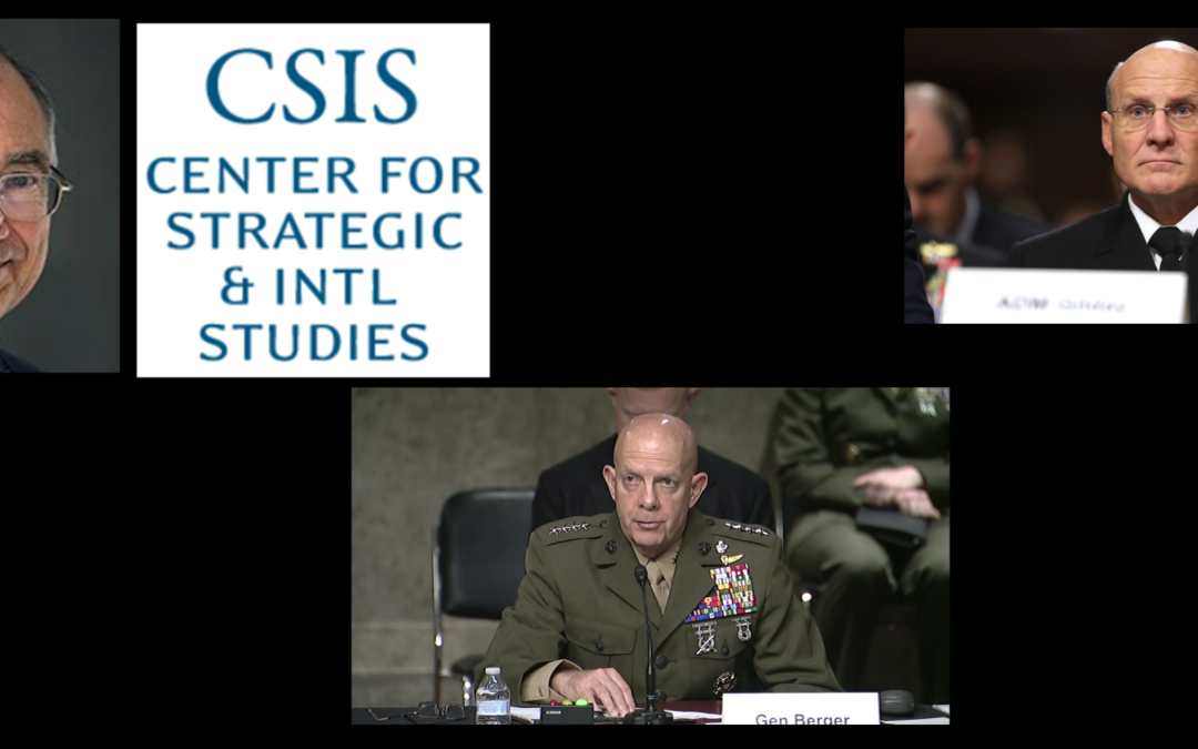 THE ALL MARINE RADIO HOUR:  Mark Cancian of CSIS talks how the US Navy & US Marine Corps fared in the Biden FY2022 Budget (it ain't good)