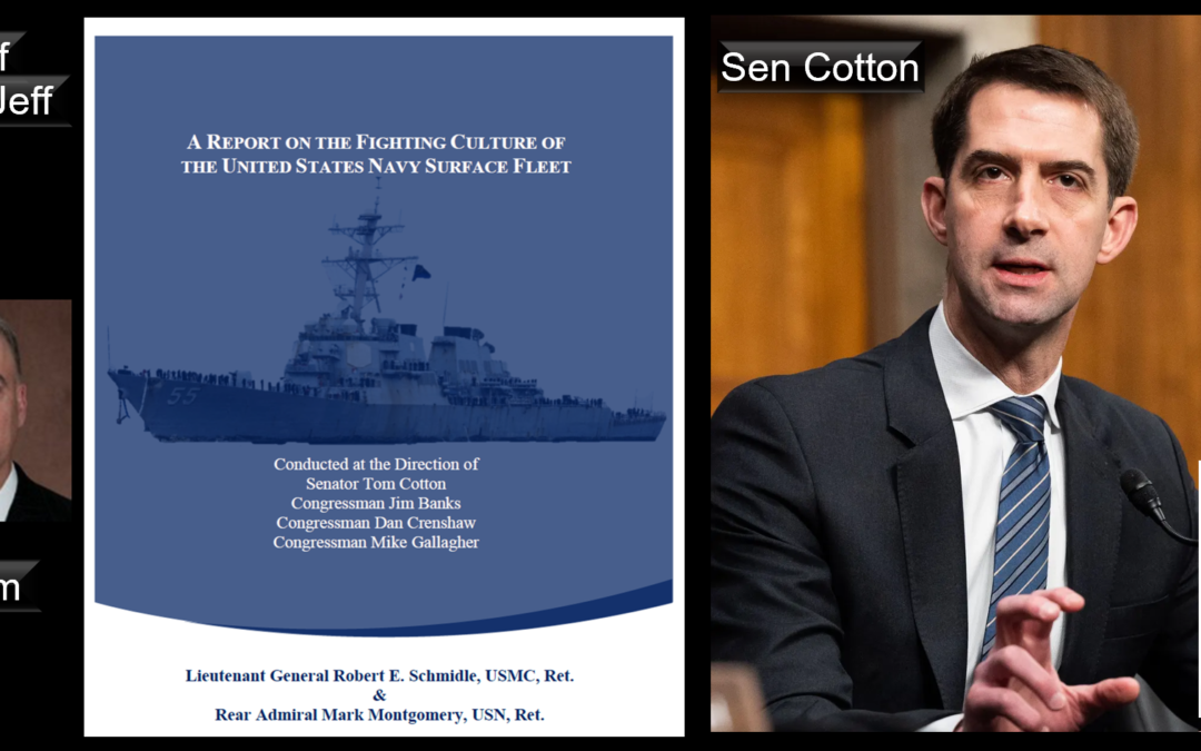 """THE ALL MARINE RADIO HOUR:  the Mensa Brothers talk """"The Cotton Report"""" on """"The Fighting Culture of the US Navy Surface Fleet"""""""