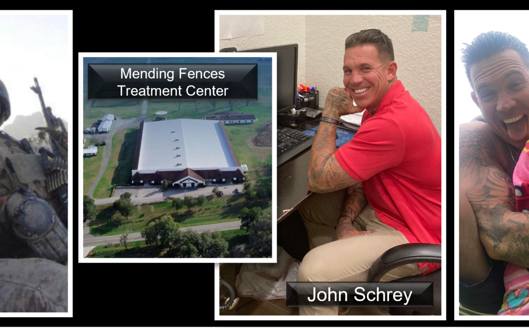 """THE ALL MARINE RADIO HOUR: John Schrey — from """"troubled Afghan combat vet"""" to transforming lives at """"Mending Fences Treatment Center"""" in Florida"""