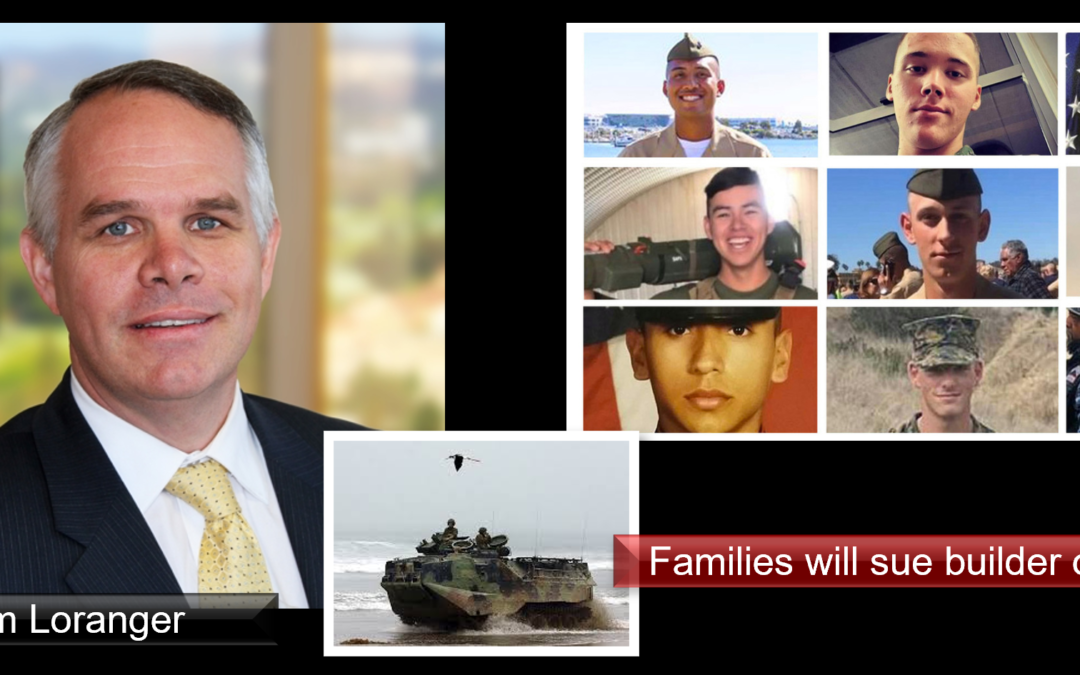 THE ALL MARINE RADIO HOUR: Tim Loranger represents families involved in a lawsuit against BAE Systems who made the AAV that sank a year ago off the coast of California killing 8 Marines & 1 Sailor – he talks to us