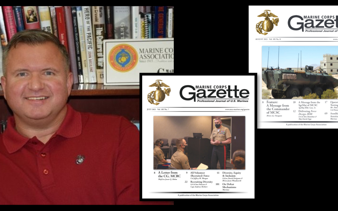 THE ALL MARINE RADIO HOUR:  Chris Woodbridge discusses the July (Recruiting) & August (Acquisitions) editions of the Gazette