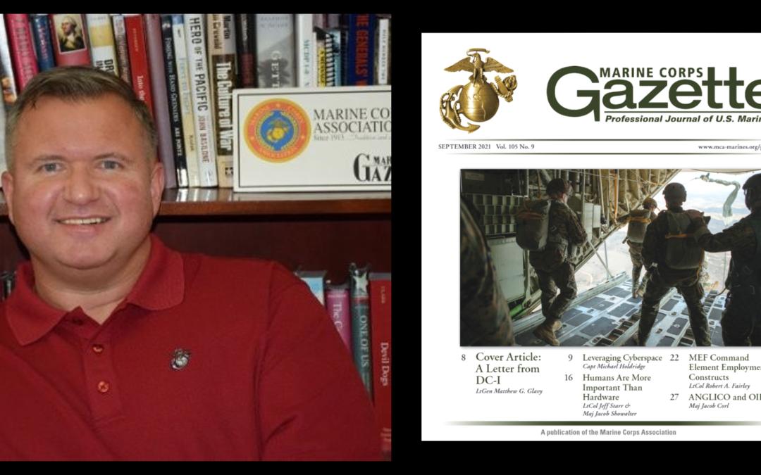 THE ALL MARINE RADIO HOUR:  Chris Woodbridge talk Afghanistan… is Goldwater-Nichols V2 needed? + this month's MC Gazette