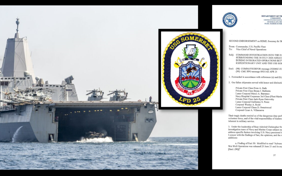 THE ALL MARINE RADIO HOUR: The Mensas discuss the Navy's investigation into the USS Somerset's role in the sinking of a USMC AAV that killed 8 Marines & 1 US Navy Corpsman